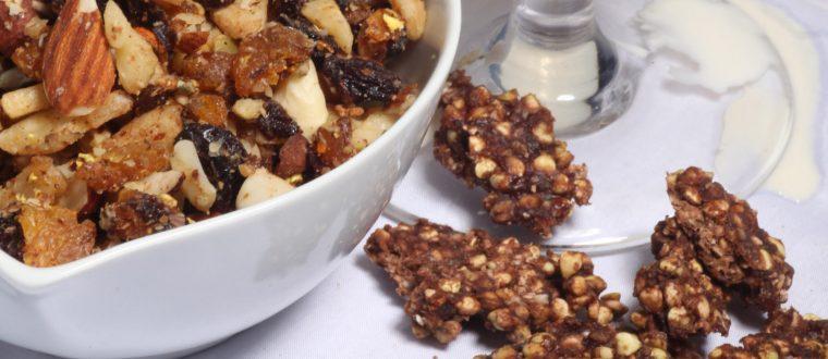 ריבועי דגני בוקר פריכים חמאת בוטנים כוסמת