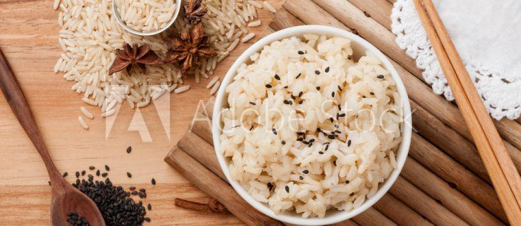 אורז צבעוני עם רימון וקצח